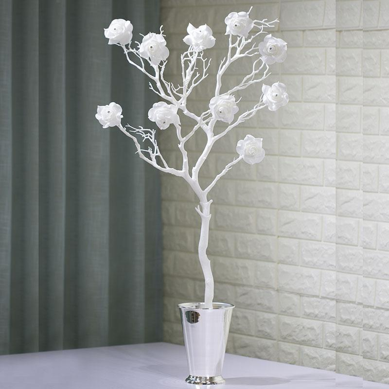 Acheter Artificielle Rose Fleurs Paste Diamants White Coral