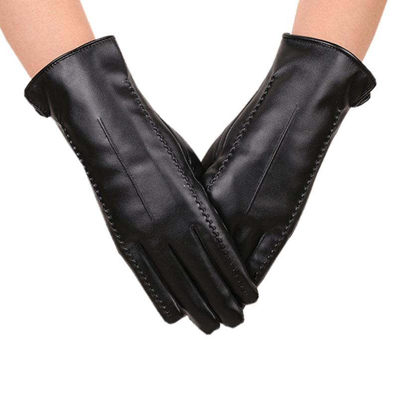 fac2994ca4cbd 2019 Kingstar Women s Leather Gloves Touchscreen Texting Driving Winter  Warm Fleece Mittens From Navyjewelry