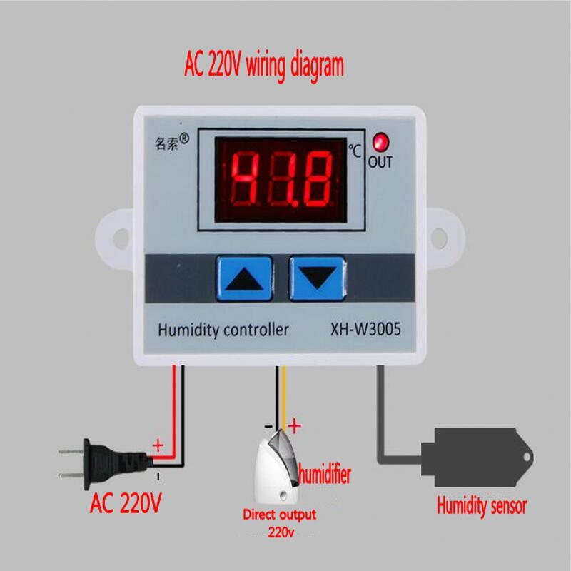 2018 Ac 220v Digital Humidity Controller Instrument Control. 2018 Ac 220v Digital Humidity Controller Instrument Control Switch Hygrostat Hygrometer Sht20 Sensor W3005 From Newcute 2349 Dhgate. Wiring. Wiring Diagram Humidity Controller At Scoala.co