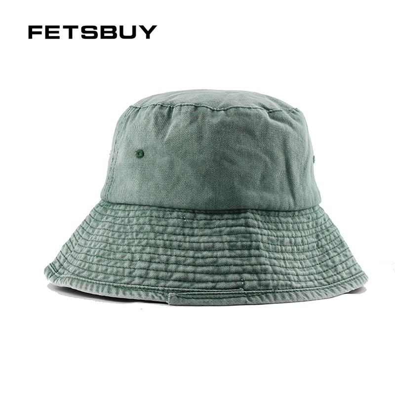 db6e6f0bfce FETSBUY Brand Men Women Bucket Hat Caps Summer Autumn Fisherman High  Quality Cotton Simple Hats Folding Outdoor Fishing Cap Black Baseball Cap  Army Cap From ...
