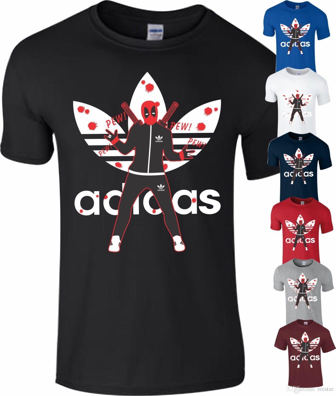 Compre Deadpool Filme Engraçado Marvel Sports Comédia T Camisa De Presente  De Aniversário Dos Miúdos Dos Homens T Shirt Dos Homens Grande  Personalizado ... a3346a580e86c