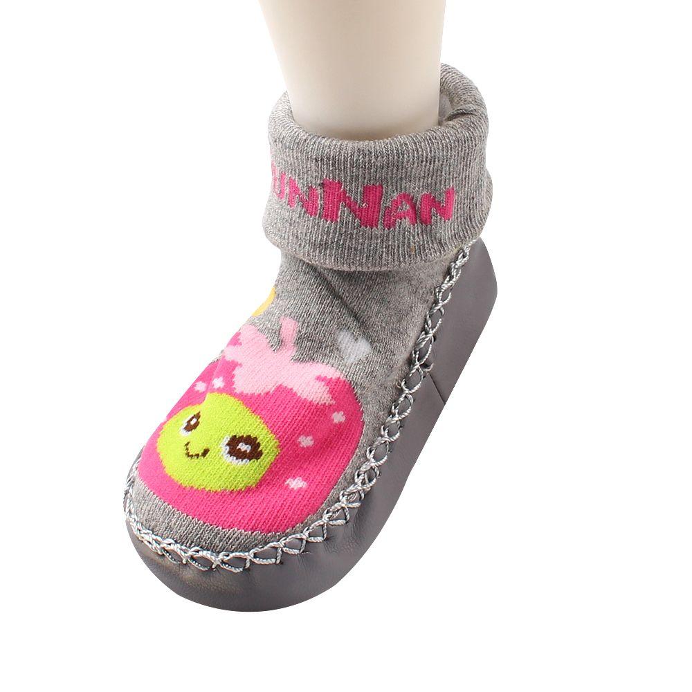 Anti Slip Cartoon Baby Sock Cute Cotton Infant Floor Socks Leather