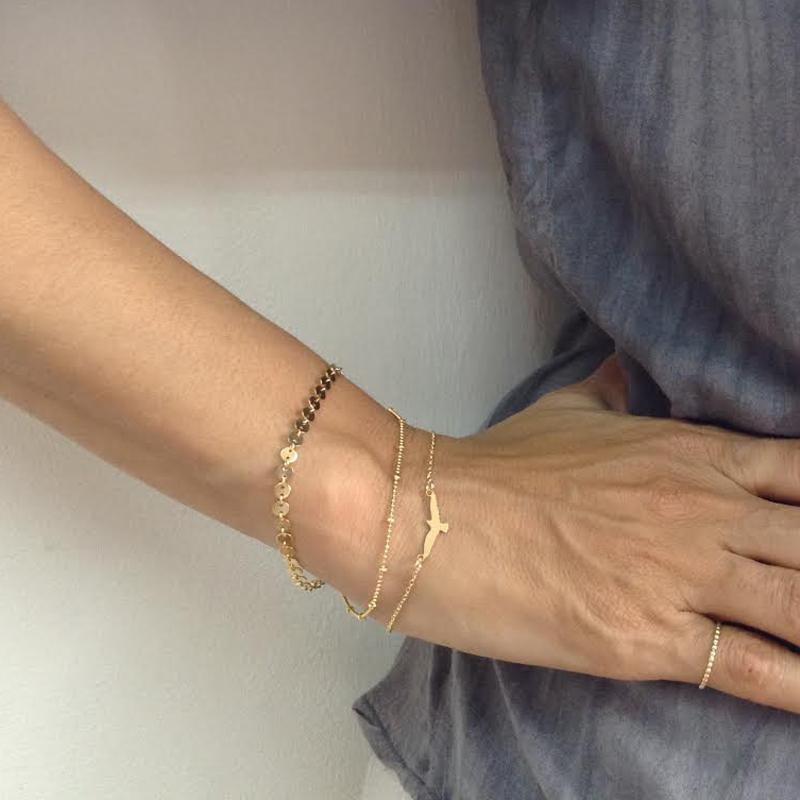 Minimalist Seagull Bracelet Fashion Multi Layer Silver Gold Color Chain Bracelets&Bangles for Women Girl Boho Jewelry