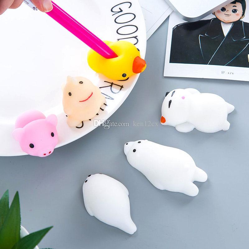 TPR cola macia para aliviar os animais de brinquedo 18 Espécie Soft Focus Squeeze Bonito Brinquedo Cura Divertido Piada Brinquedos de Descompressão
