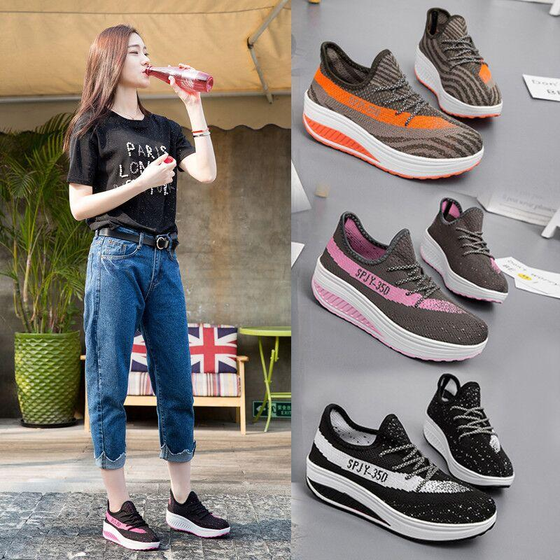 Fly-woven mesh sports shoes thicker platform sponge cake shake shoes women's shoes outlet high quality 9fwNim9