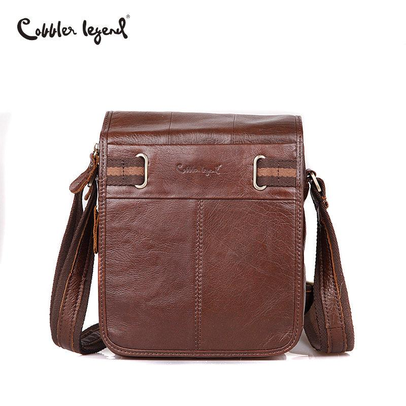 Cobbler Legend Men Bag 2018 Genuine Leather Mens Shoulder Bags High ... 44d5b91b74