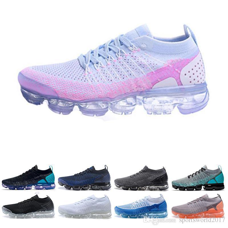 quality design 5be80 c30ce Nike Air Vapormax VM Zapatos De Diseñador Baratos 2.0 Triple Blanco Negro  Rosa Zapatillas De Running Hombres Mujeres Respira Moda Zapatillas  Deportivas ...