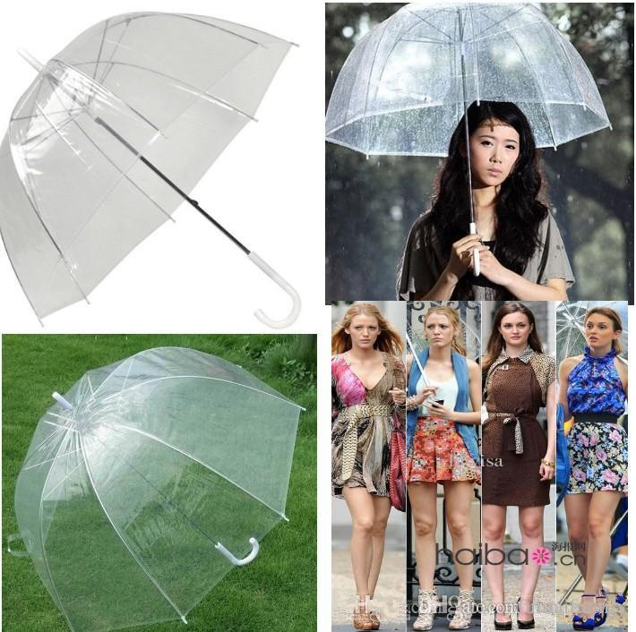 "New Arrive 34"" Big Clear Cute Bubble Deep Dome Umbrella Gossip Girl Wind Resistance"