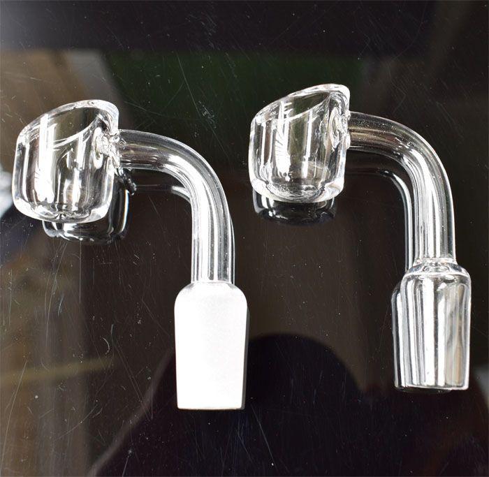 4 мм толщиной 100% кварцевый фейерверк ногтей 10 мм 14 мм 18 мм женский мужской чаша Domeless кварцевые ногтей против Титана керамические ногтей