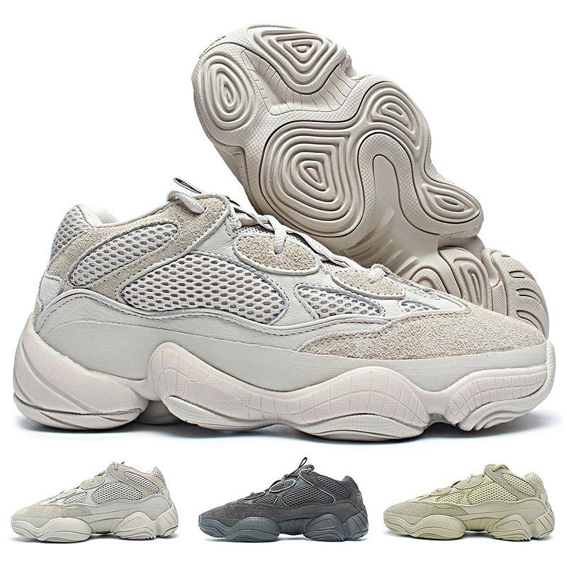 uk availability 5605d 1e5a0 500 Blush Desert Rat Running Shoes Kanye West Casual Shoes for Men Women  Designer Triple White Black Yellow Sports Sneakers 36-46