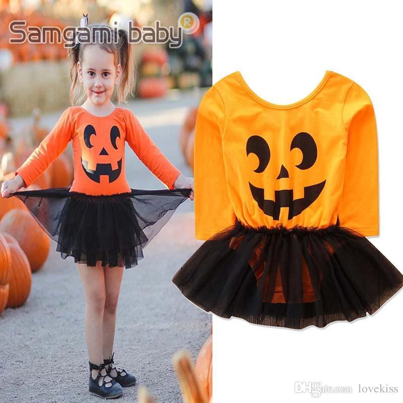 f26d7beab9b3 2018 New Halloween Ins Autumn Winter Long Sleeve Baby Rompers Girls ...