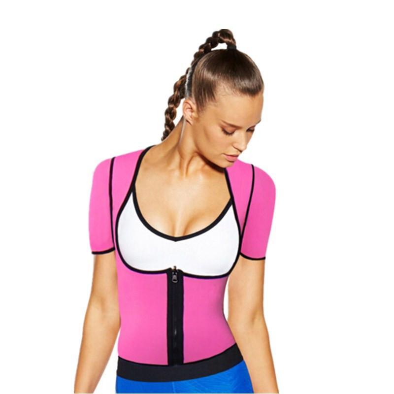 fd4d1db4633 2019 NINGMI Neoprene Latex Women Hot Shaper Vest Sweat Sauna Zipper Waist  Trainer Cincher Body Shapers Underwear Bodyshape Tank Tops From Dolylove