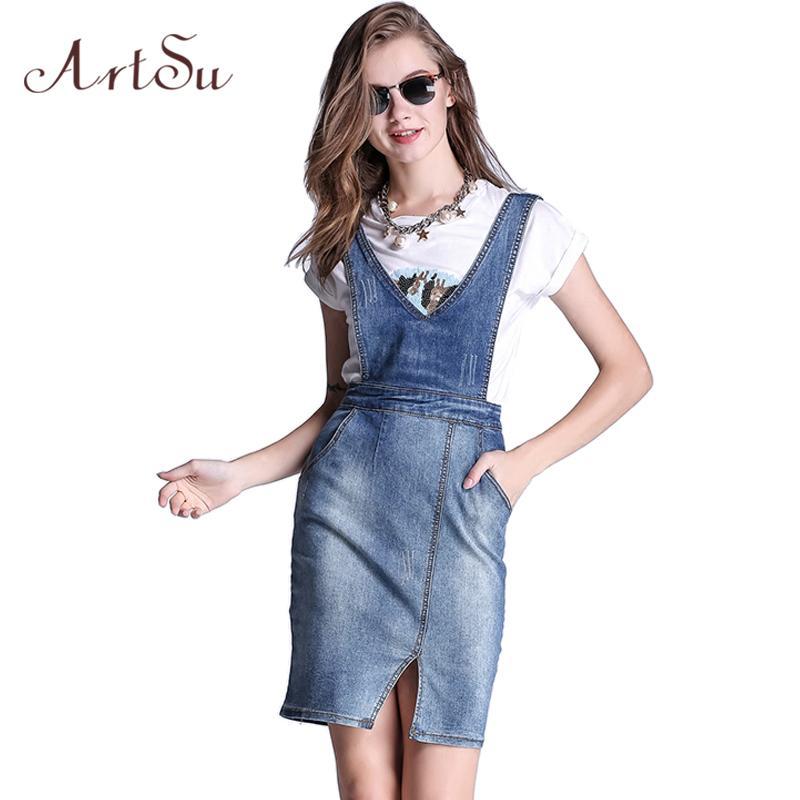 Elegante Mono Mamelucos Del De Una Falda Rectos 14 Pieza Artsu Assk50011 Mezclilla Mujer Compre A 27 Jeans Casual Moda Vaquera Primavera Overol 7P1xXawq