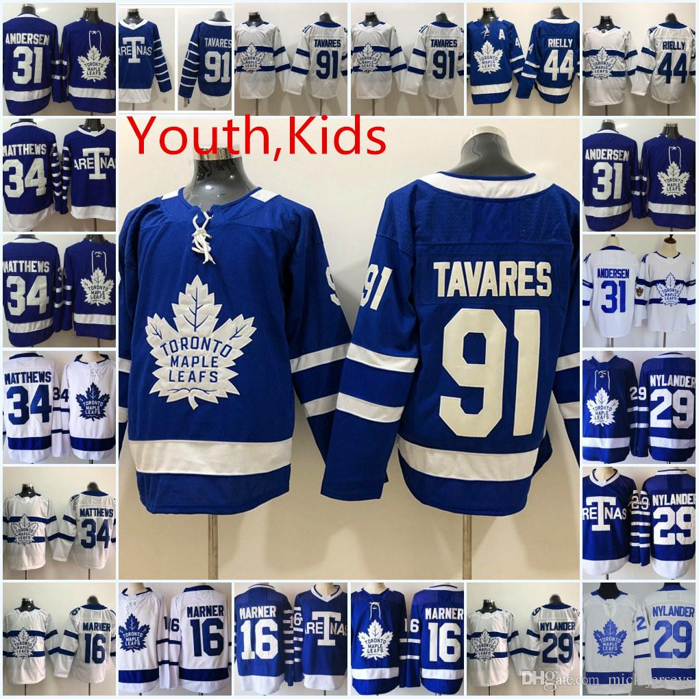 16395771e59 Youth Toronto Maple Leafs Auston Matthews Jersey Frederik Andersen Mitchell  Marner William Nylander John Tavares Toronto Maple Leafs Jerseys Toronto  Maple ...