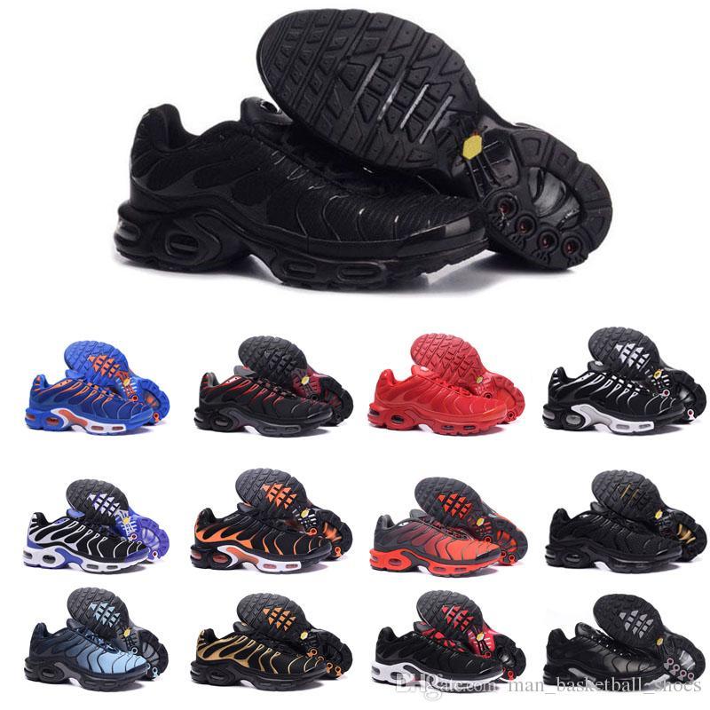 half off dd29e ae4f8 Compre Nike Air Max TN Hombres Diseñador Clásico TN Negro Blanco Naranja  Zapatillas Deportivas Para Hombre Para Mujer Chaussures Azul Rojo Corriendo  Attic ...