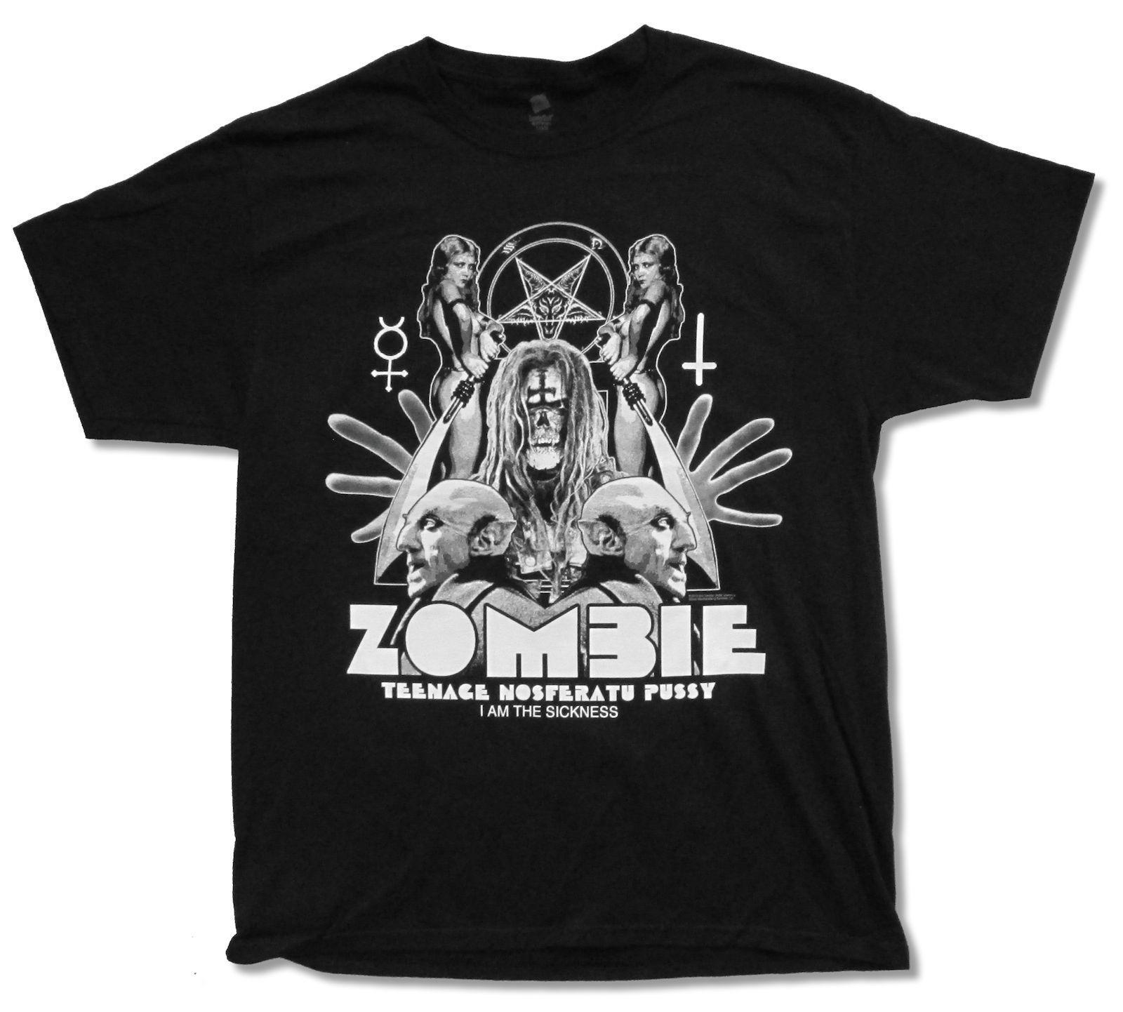 Rob Zombie Shadow Black T Shirt New Official Teenage Nosferatu Adult