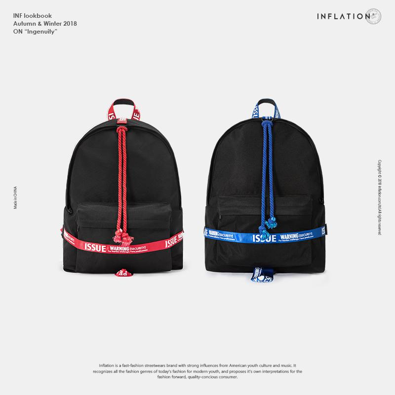 INFLATION Backpack Women Men Travel Bags Men Vintage School Bags Letter  Tape Fashion Back Pack School Bag For Boy 190AI2018 Rucksacks Bookbags From  Beasy111 ... 22e6c2572f0a6