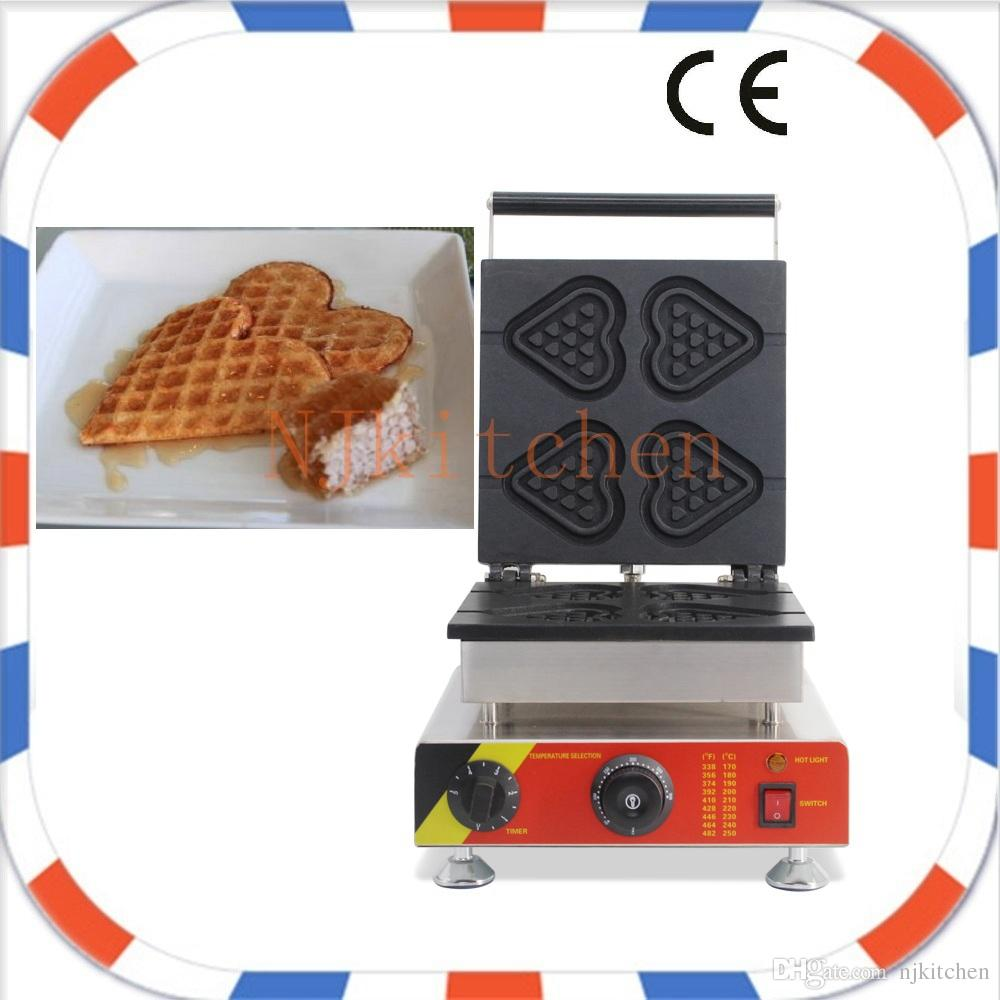 Livraison Gratuite 110 V 220 V électrique Commerciale Belgium Amour Coeur Forme Gaufre Bâtons Fabricant Machine Fer Boulanger Plateau Plaque