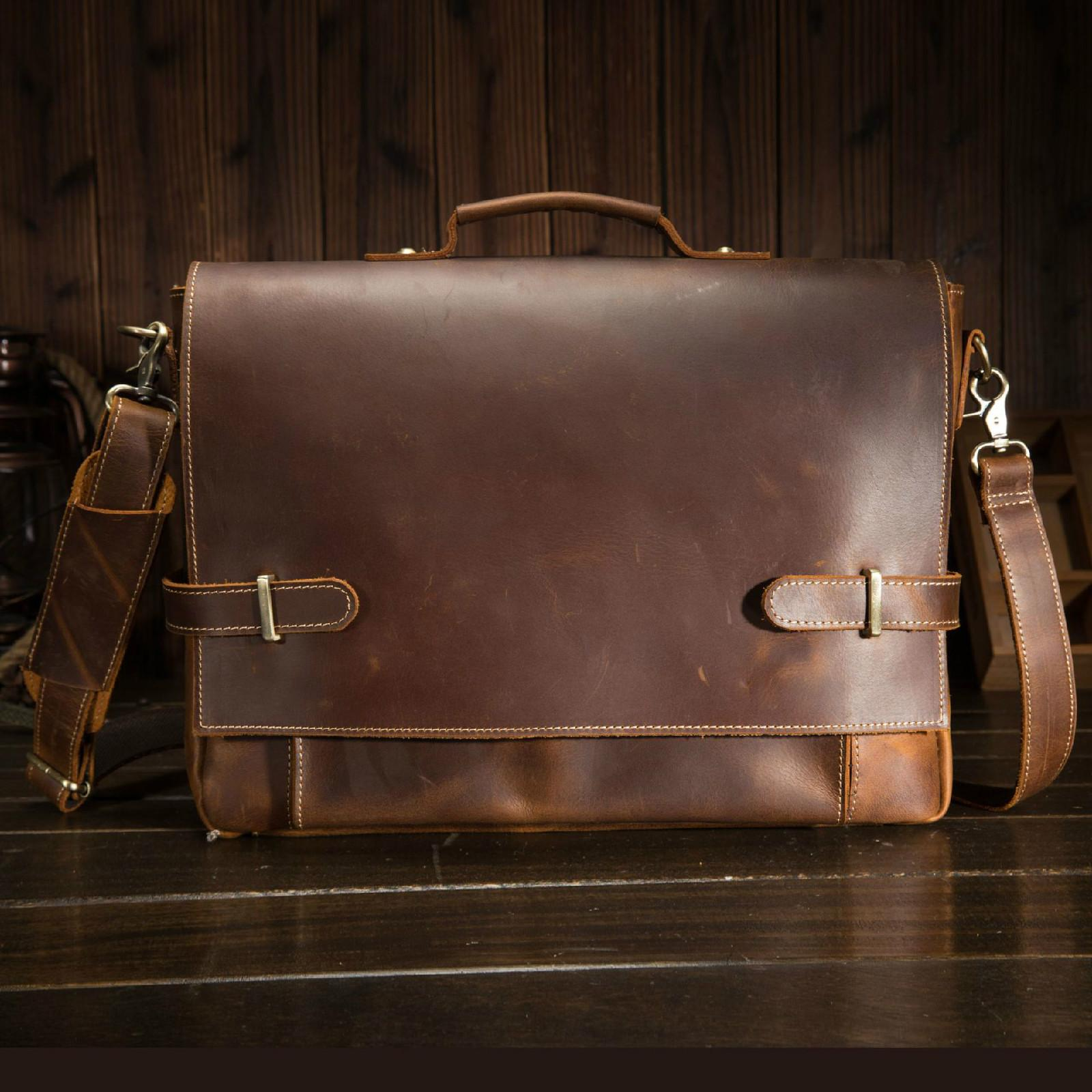 b9da83ee76f7 The First Layer Cowhide Men S Handbag Retro Crazy Horse Leather Briefcase  Casual Bag British Foreign Trade Leather Male 9090 Mens Duffle Bag Designer  ...