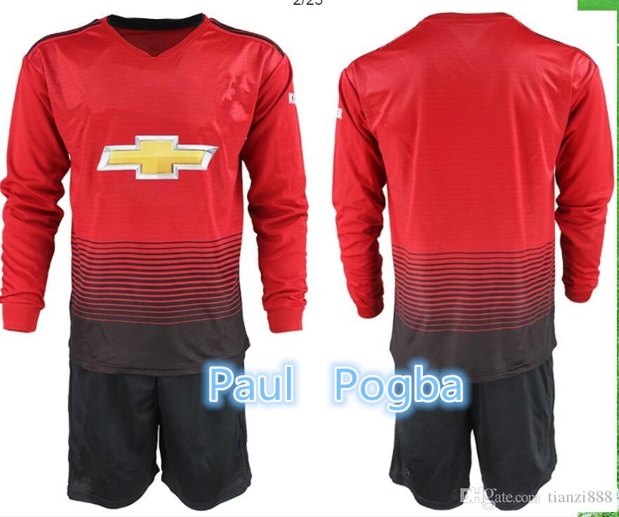 546d51d5565 1819 New Long Sleeve Soccer Jersey POGBA ALEXIS LUKAKU RASHFORD ...