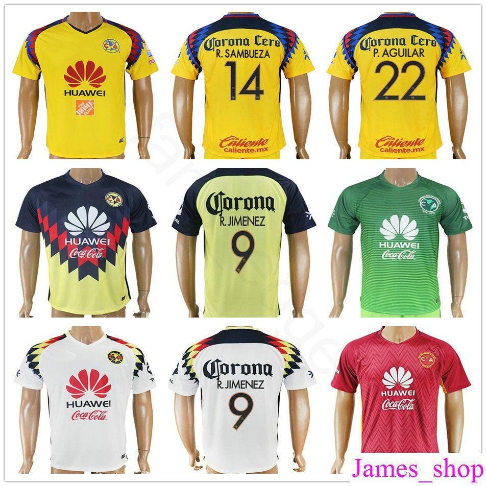 c7fef6f0e36 czech discount 2018 mexican league football club america soccer jerseys 9  r.jimenez 14 r