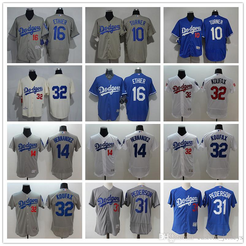 a22d5da0232 2019 Men S Women Youth LA Dodgers Baseball Jersey  10 Justin Turner 16  Andre Ethier 31 Joc Pederson 32 Sandy Koufax 14 Baseball Jerseys From  Custom jerseys
