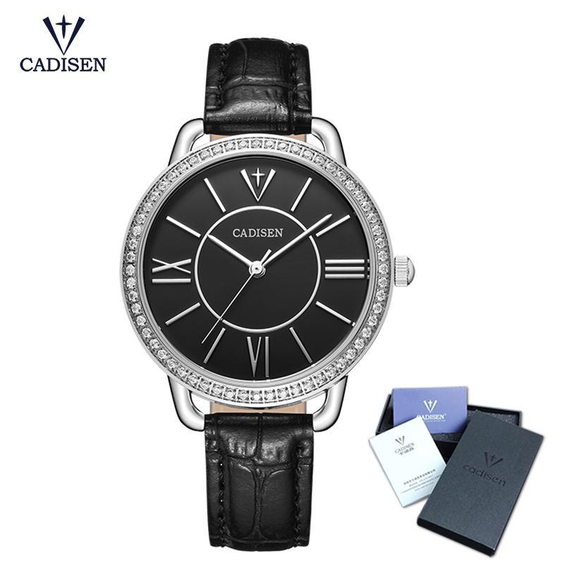 d7070e1394f Compre 2018 Nova Cadisen Moda Marca Pulseira De Couro Diamante De Quartzo  Das Mulheres Relógios Senhoras Vestido Relógios Relógios Femininos De Ouro  Casuais ...