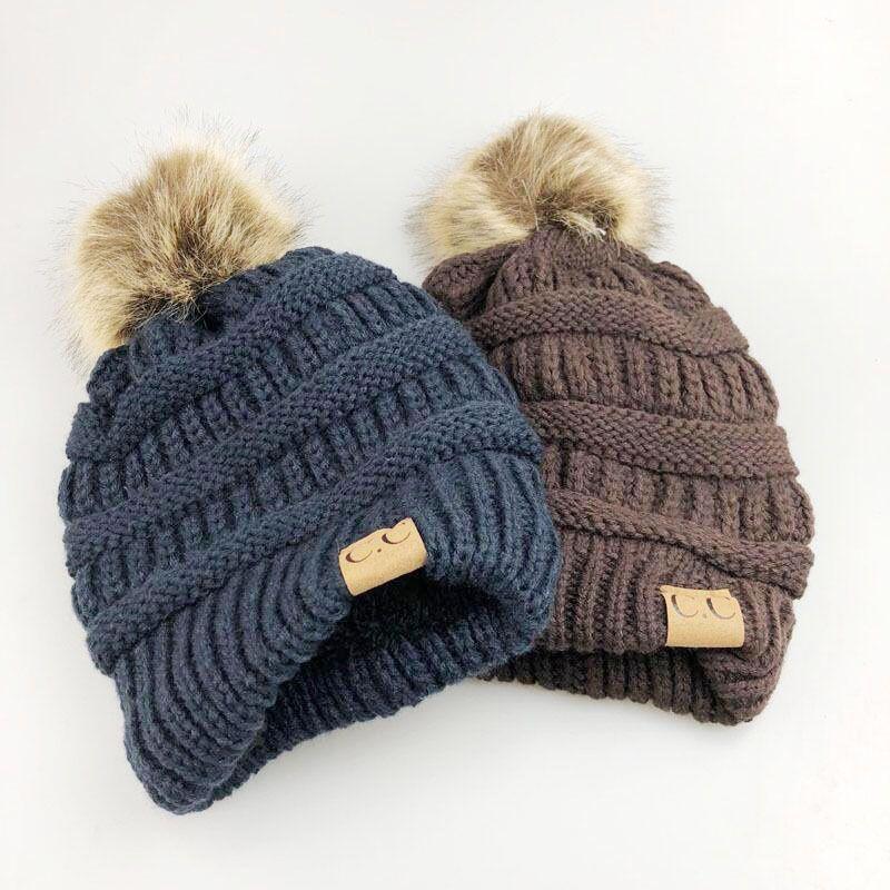 Pompon Winter Hats For Women CC Logo Warm Knitted Skullies Plus Velvet  Beanies Outdoor Ski Cap Mens Bonnet Stocking Hats Beanie Boo Trucker Hats  From ... 2de039ad1d0