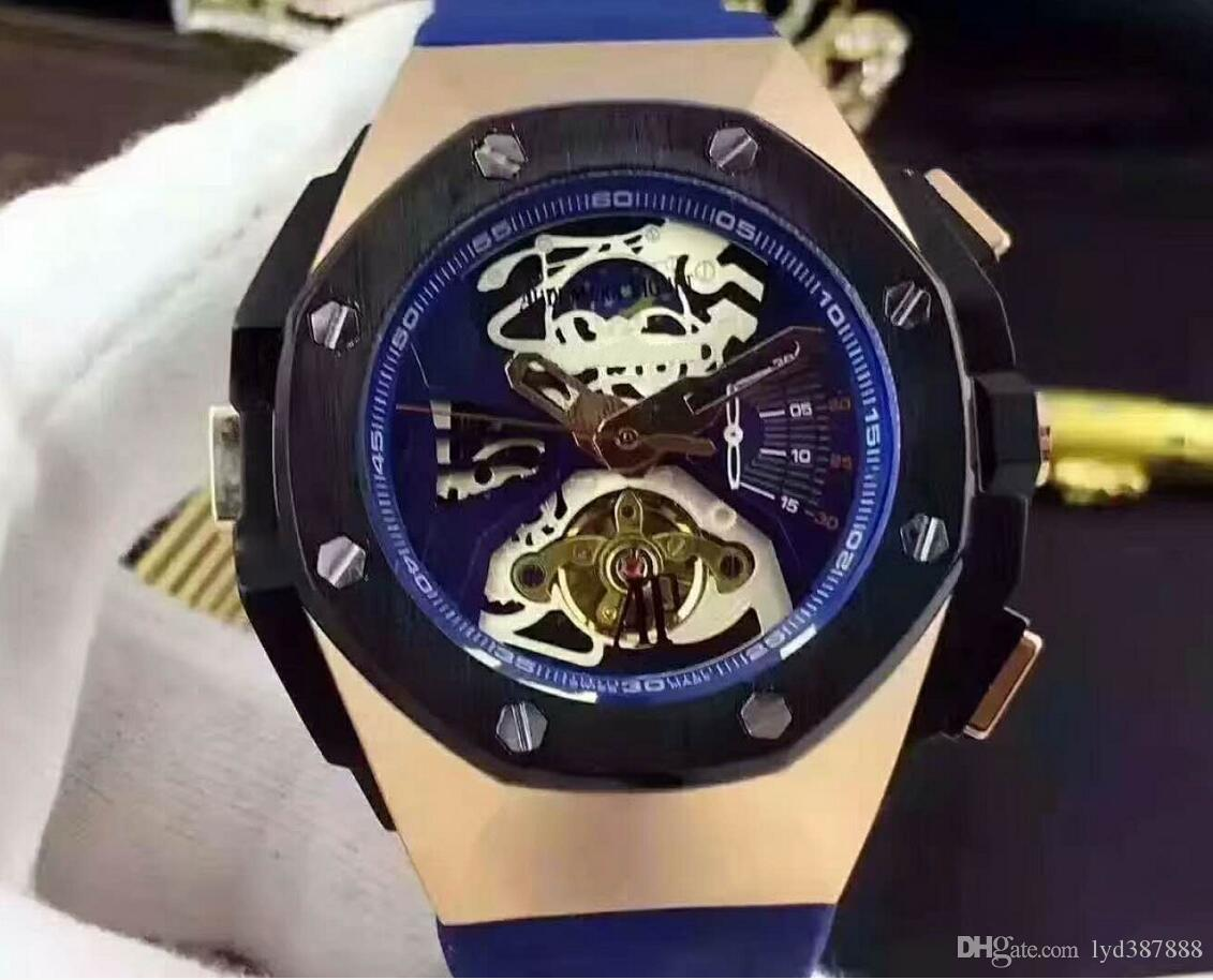 Top Selling Luxury Watch Special Men Rubber Band Stainless Steel Automatic Mechanical T Men Men's Watch Watches A4