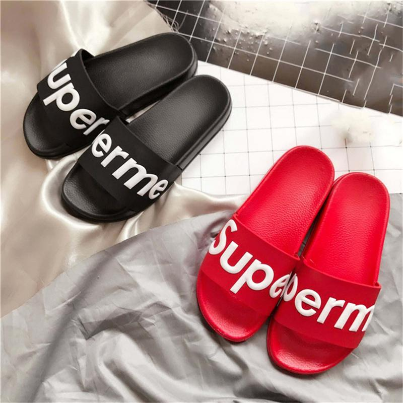 7785cdba9f4b Top I7Supreme Box Logo Slippers Men Women Indoor Hip Hop Slide Harajuku  Sandals Unisex Outdoor Beach Slippers Kawaii Flip Flops Sandals Girls  Sandals White ...