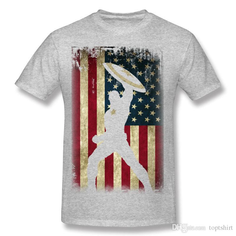 Classic Adult 100% Cotton Captain America T-Shirts Adult Round Neck White Short Sleeve Tees Shirt Extra large Size Customized T-Shirts