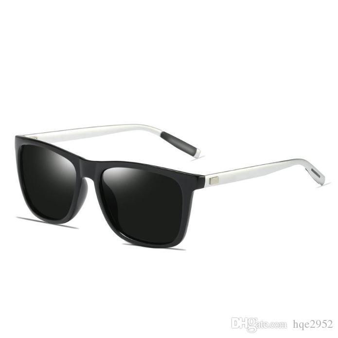 33c8be7d93 Compre Gafas De Sol Polarizadas Clásicas Para Mujeres Y Hombres Marco  Cuadrado Al Mg Piernas HD Vision Moda Espejadas Sombras Reflectantes ...