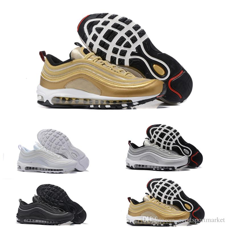 Men Women 97 Running Shoes Cushion OG Silver Gold Anniversary Edition Sneakers Designer Chaussures 97S Scarpe Uomo Athletic Sports Trainers cheap sale low shipping outlet pictures shop offer sale online outlet locations online ibxJv8N