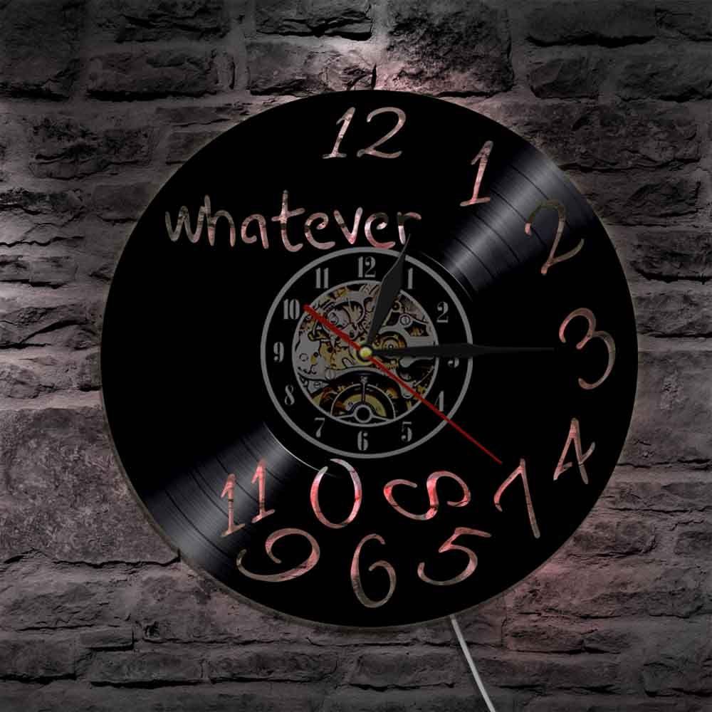 1 stuk vinyl record wandklok wat led verlichting vintage interieur lp klok muur art tijd horloge 12 wall clocks 14 wall clock from dg88090431