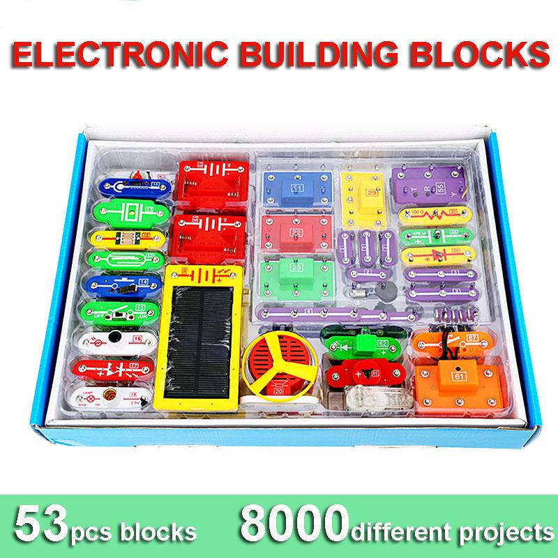New Creative Diy Electronic Building Blocks Students Children ...