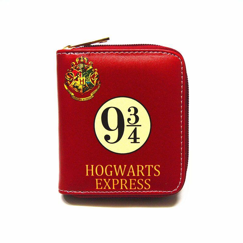 Harry Potter Zipper PU Short Wallet Permit Wallets Fashion Women's Wallet