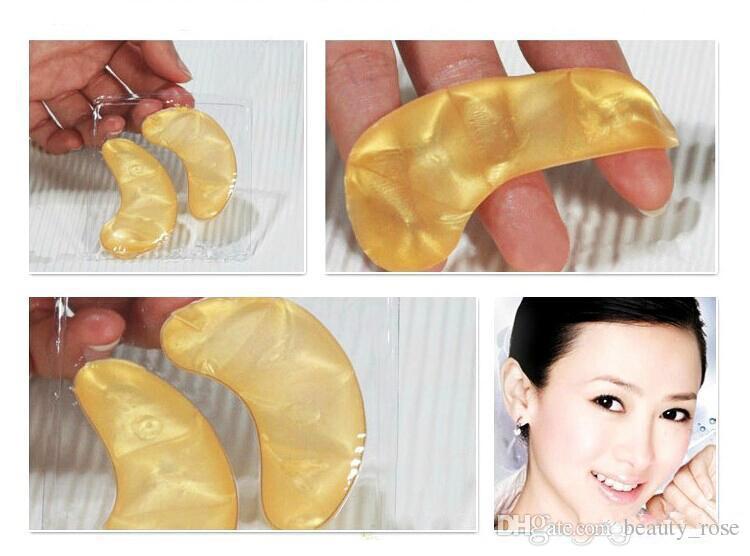 All'ingrosso- Gold Crystal Collagen Sleeping Eye Mask Hotsale Eye Patch Mascara 100 pezzi = 50 pack Linee sottili Cura del viso Cura della pelle