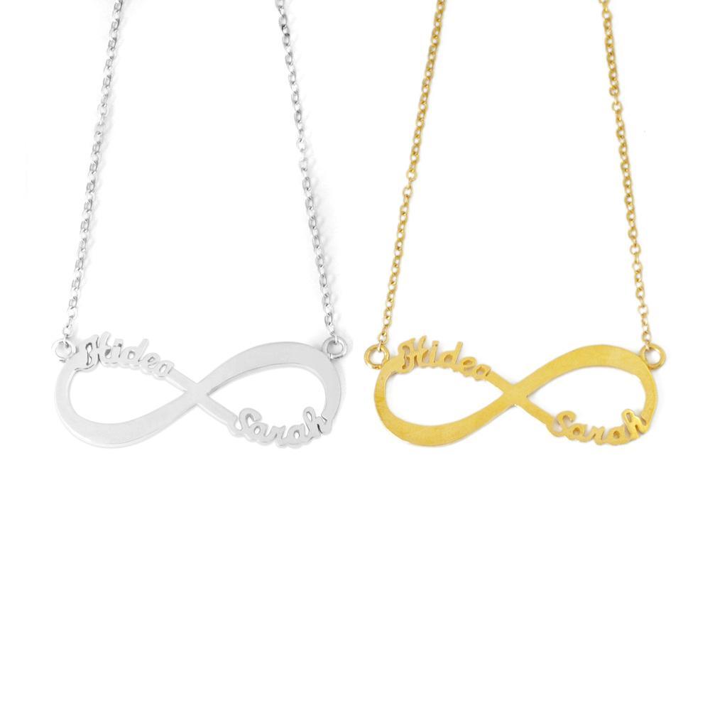 5fb88e455acf Compre Collar Personalizado De Dos Nombres Infinity
