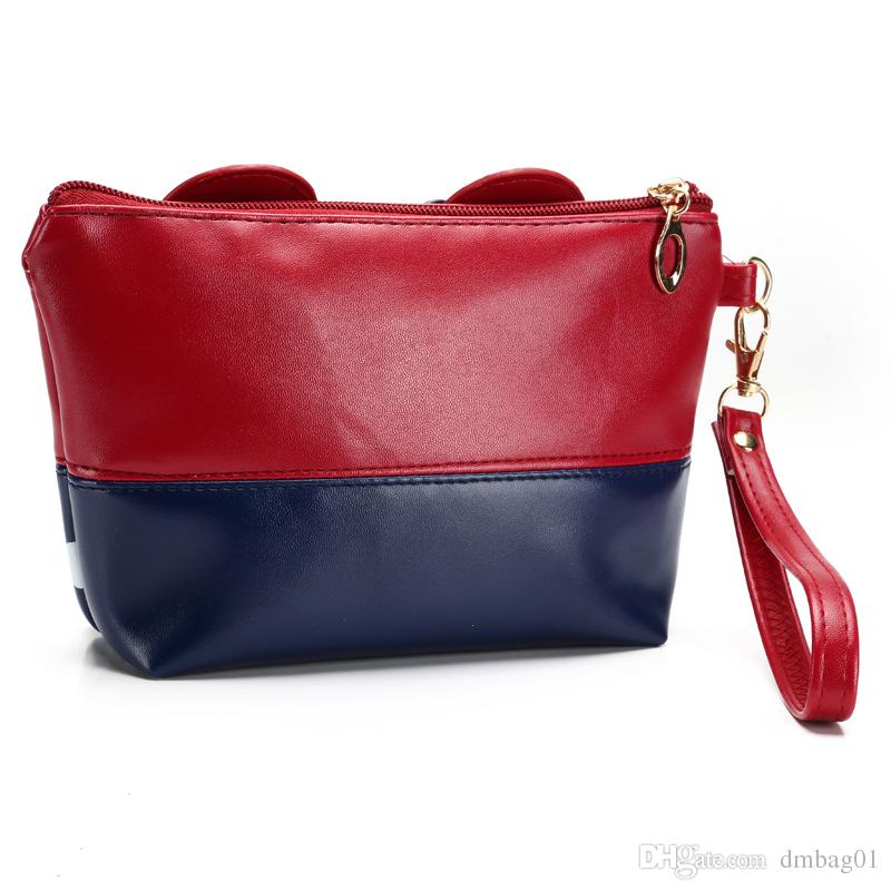 Heißer Verkauf Maus nette Handtasche Bowknotverfassungsbeutel-Kosmetiktasche für Reiseverfassungsorganisator und -pflegeanwendung