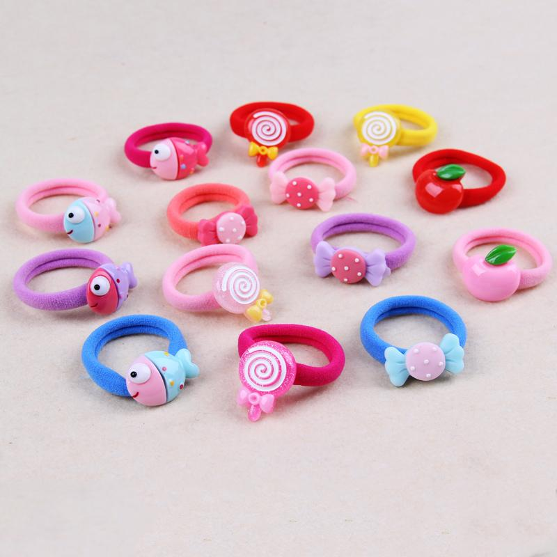New Candy Lollipops Elastic Hair Bands For Little Girls Cotton Blends Hair  Rope Kids Rubber Band Children Accessories Hair Accessories Children Bridal  Hair ... 3df473eec50