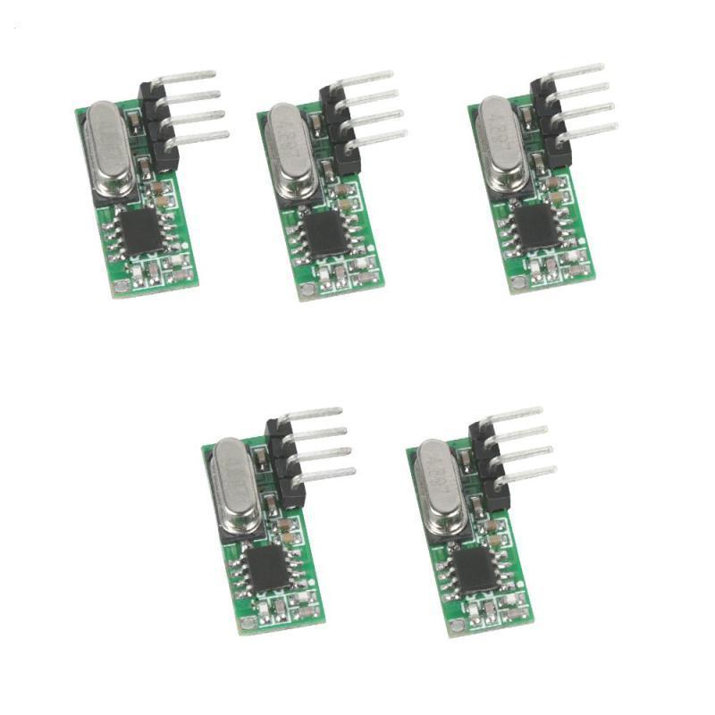 5pcs High Sensitivity RX500 315mhz Superheterodyne RF Relay Receiver Module  For ASK UHF Arduino Uno Remote Control Light DIY H3