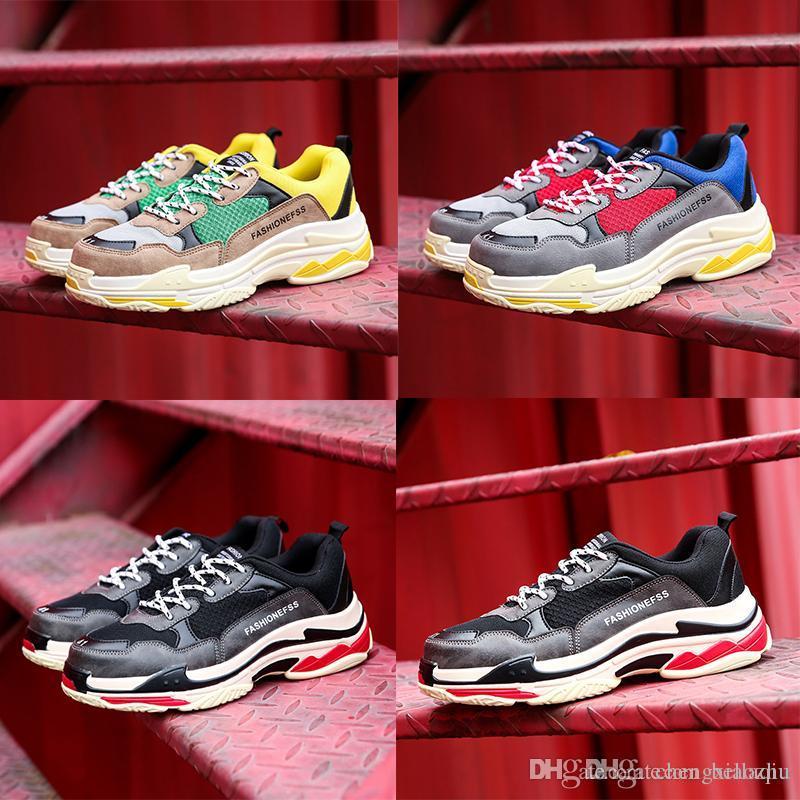 les chaussures de marque de mixtes bonne qualité balenciag conception des couleurs mixtes de de papa » 7c8da4