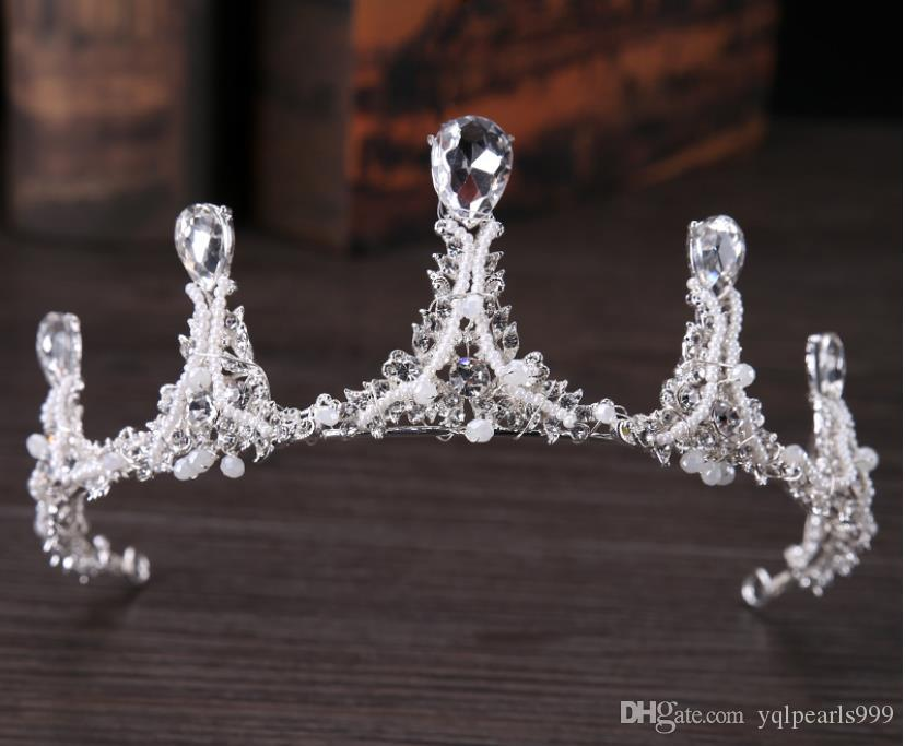 2018 new bride's Crystal Crown bridal bridal dress accessories