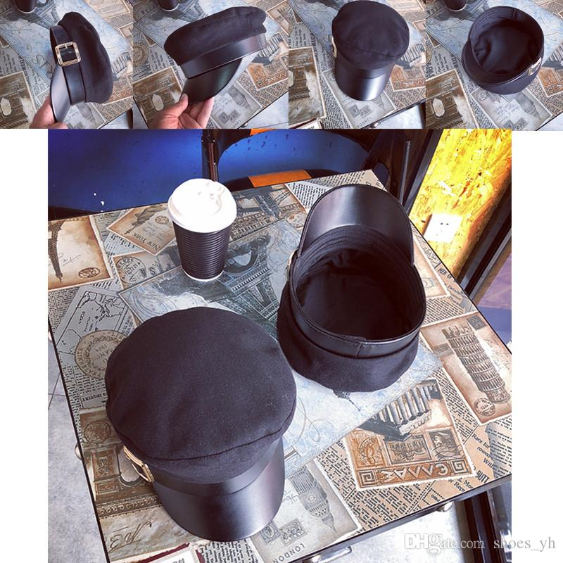 f16c8961224c4 Size M 56 58cm Autumn And Winter New Berets Retro Woolen Nnavy Cap Men And  Women Wild British Fashion Flat Army Hat Richardson Caps Customized Hats  From ...