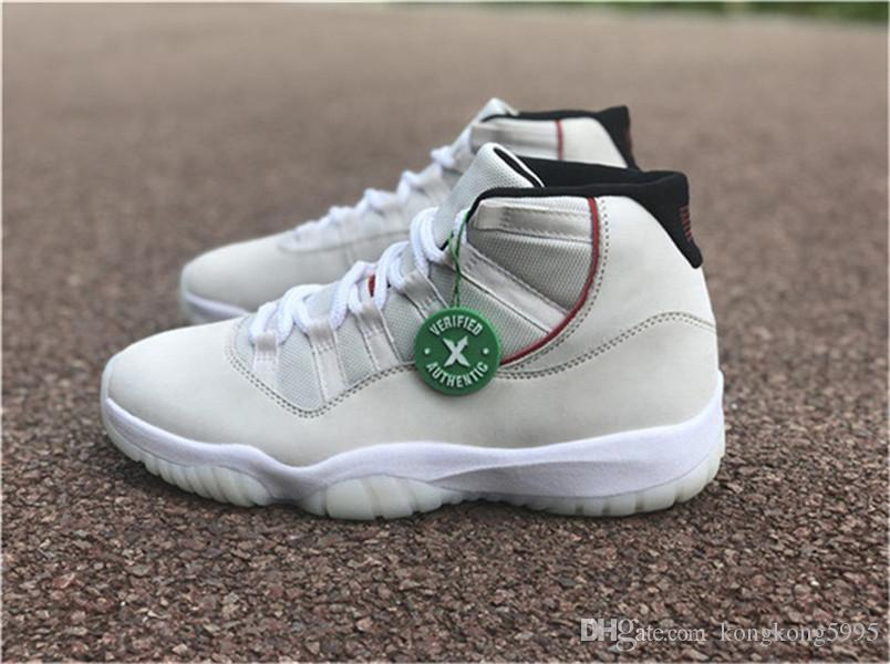 f19ed94e9c16ae 2018 Best Authentic 11 Platinum Tint 11s Sail University Red XII Basketball  Shoes Men Women Real Carbon Fiber Sneakers With Box 378037 016 Running Shoes  ...
