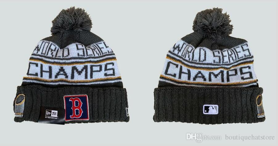New Arrival Men S Red Sox Charcoal 2018 WS Champions Locker Room Cheap  Boston Cuffed Knit Hat Baseball ALL Team Sport Skullies Beanie Caps Hats  For Sale ... d56c4b9c5e17