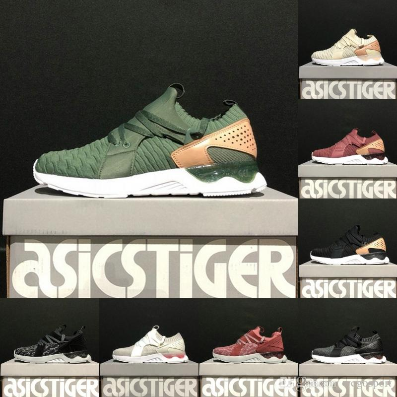 hot sale online 41a34 59454 Asics Originals Gel-Lyte V Sanze Knit 5s Top soft upper Running Shoes mens  women Wheat color Socks shoes Discount Sneakers