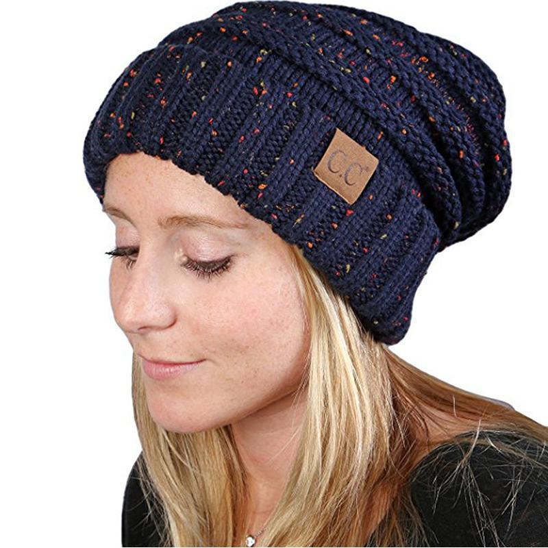 Compre 2018 CC Chapéu De Malha Feminino Inverno Algodão Gorro Mulheres  Chapéu De Hip Hop Quente Bonnet Femme Caps Skullies Gorros Chapéus De  Inverno Para As ... f264d5f54a3