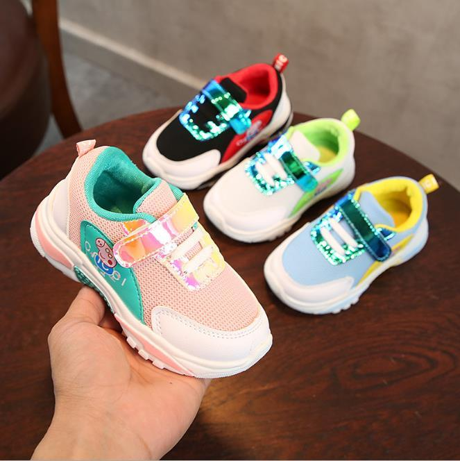 Kids sports sells new spring summer baby soft bottom sneakers girls anti skid leisure 1-3 year old baby boy tennis shoes