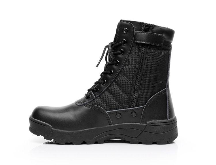 Acquista High Top Army Stivali Da Uomo Zipper Design High Top Delta SWAT Scarpe  Da Uomo Nero Stivali Da Trekking A  47.83 Dal Vanilla13  f54176b04f6
